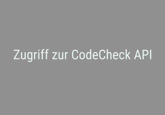 CodeCheck API