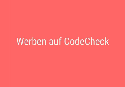Werben auf CodeCheck